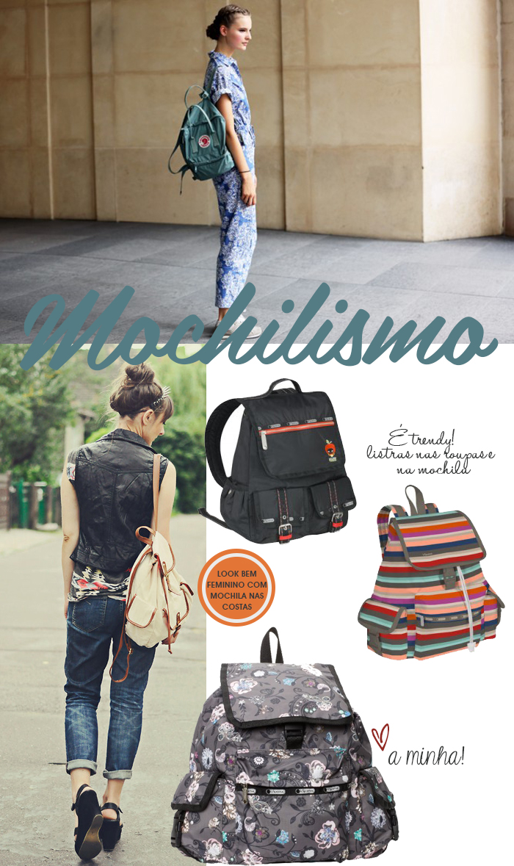 Moda de Rua como usar mochila em looks femininos Fashion blog MeninaIT