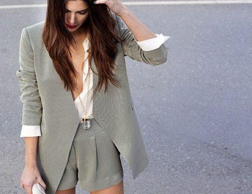 conjunto blazer e shorts