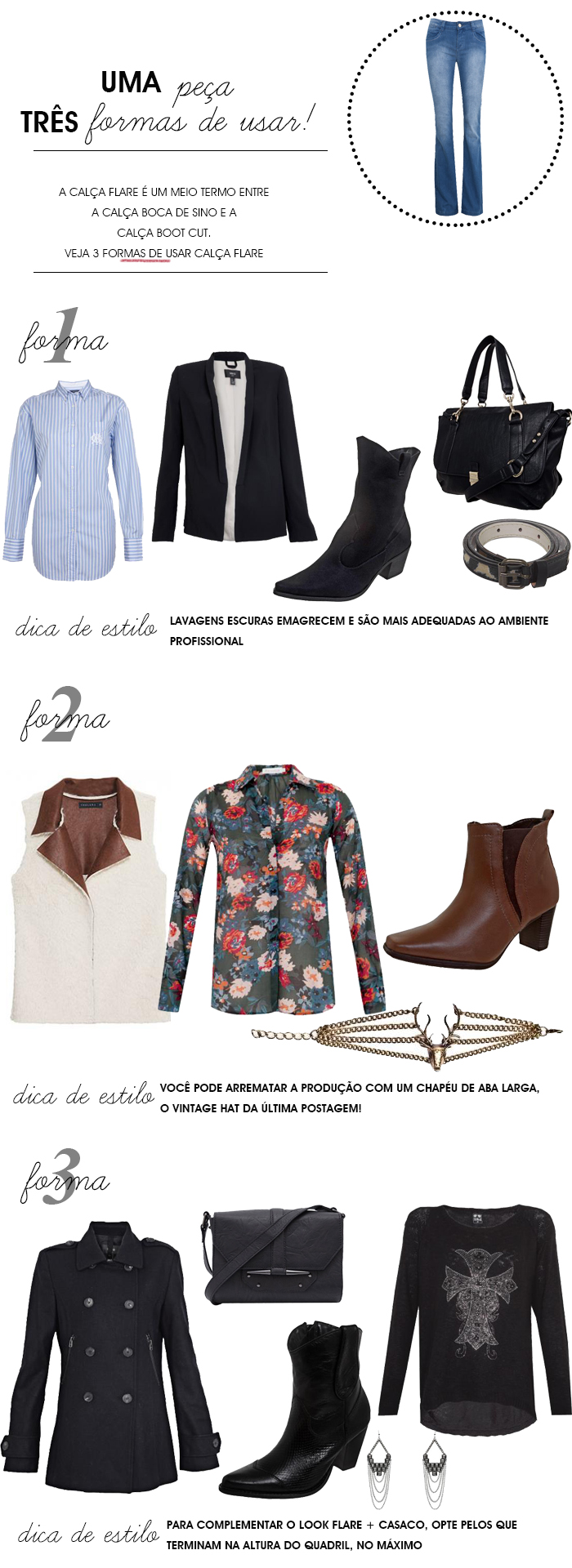 MeninaIT Deisi Remus Fashion blog três formas de usar calça flare