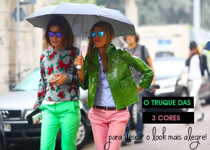 MeninaIY Deisi Remus blog de Moda e o truque das três cores para deixar o look mais alegre