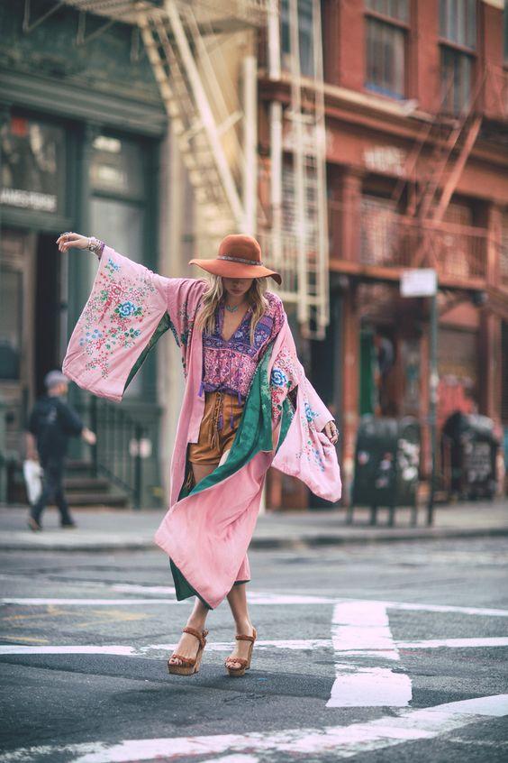 como usar kimono fotos
