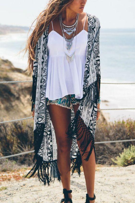 kimono look praia