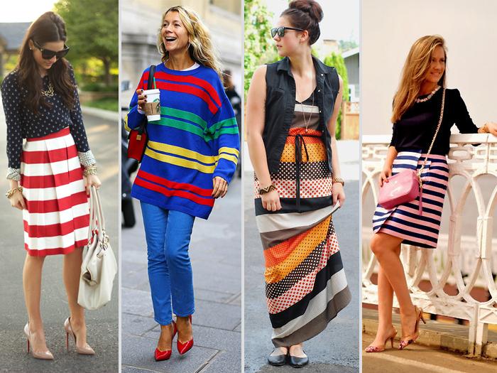 Como usar listras coloridas fashion blog MeninaIT