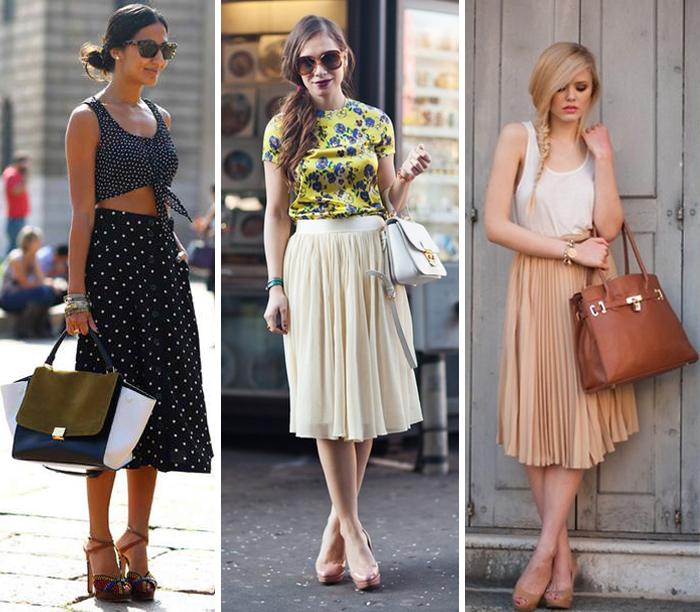 Como usar saia midi no verão fashion blog MeninaIT Deisi Remus
