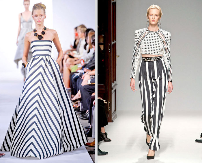 Listras preto e branco desfiles Dolce Gabbana e Ralph Lauren Fashion blog MeninaIT