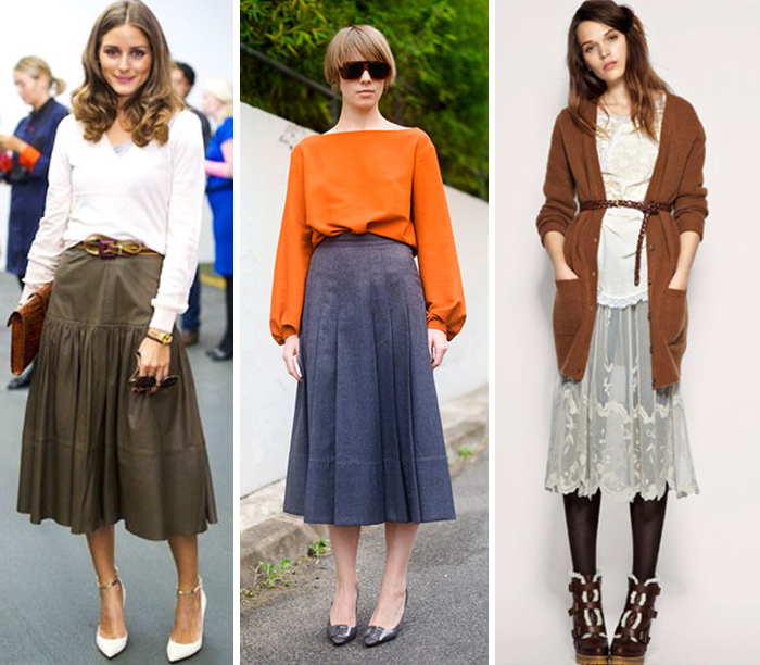 como usar saia midi para baixinhas Fashion