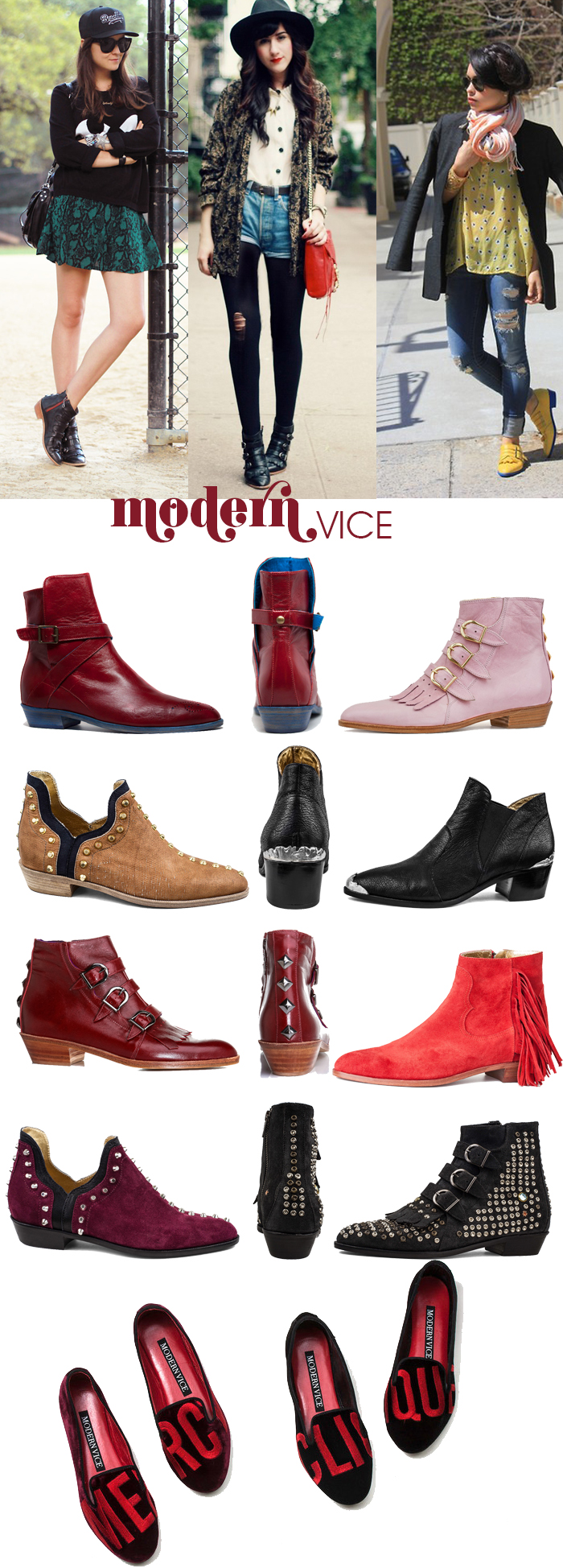 Botas e Slipper Modern Vice Fashion Blog MeninaIT