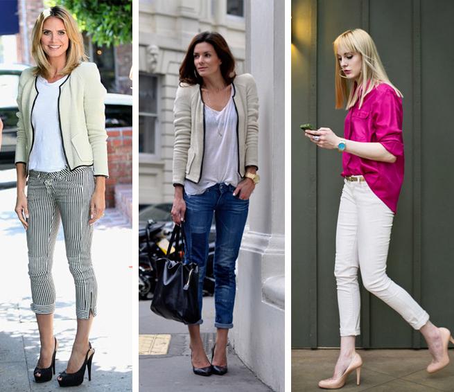 Calça capri jeans feminina como usar Fashion blog MeninaIT