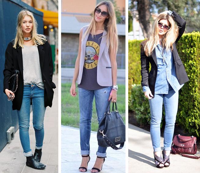 Calça jeans clara em looks femininos como usar fashion blog MeninaIT