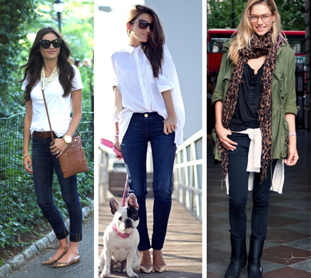 Calça jeans escura como usar fashion blog MeninaIT