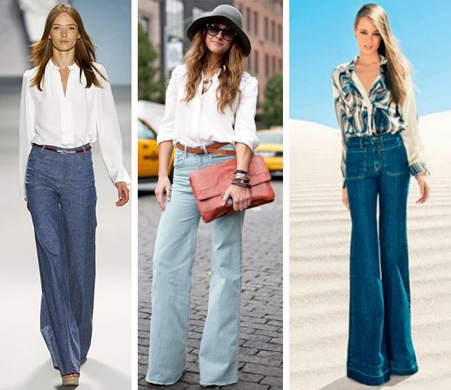 Calça jeans pantalona como usar adequado ao seu tipo de corpo fashion blog MeninaIT