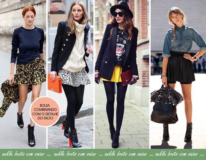 Como usar ankle boots com saias blog de moda feminina MeninaIT