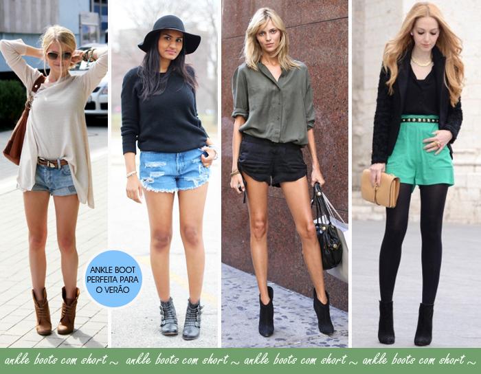 Como usar ankle boots com short blog de moda feminina MeninaIT