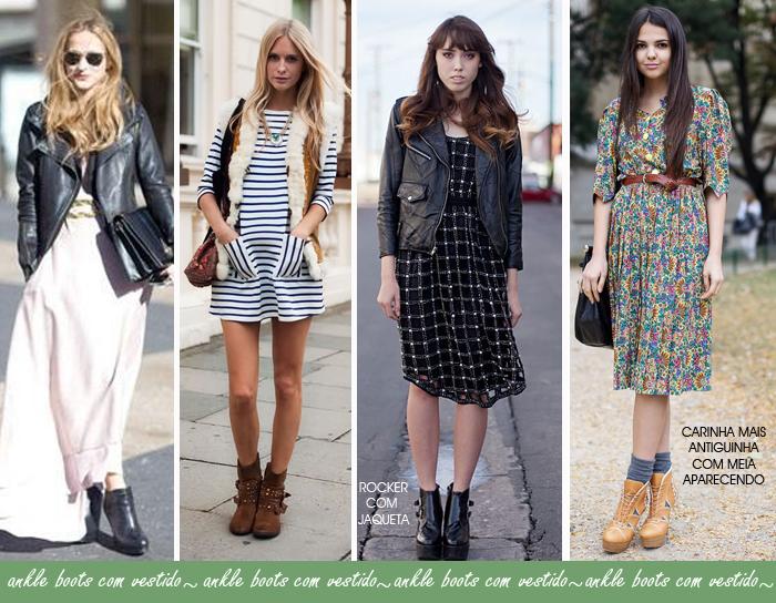 Como usar ankle boots com vestidos curtos e longos blog de moda feminina MeninaIT
