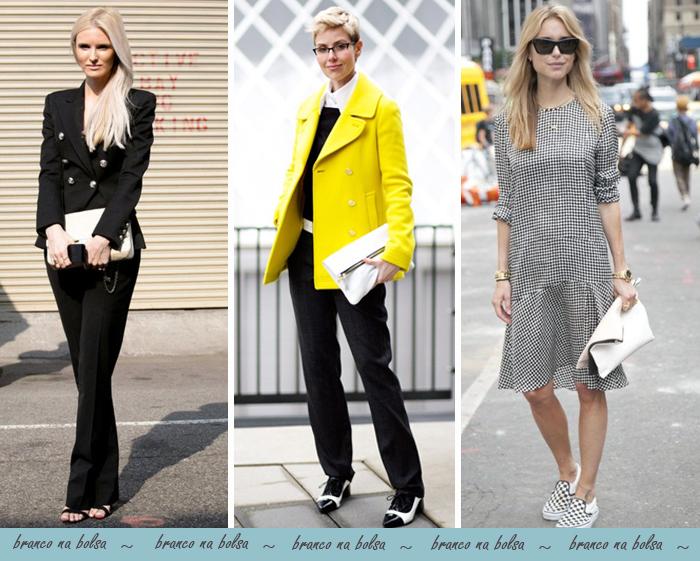 Como usar bolsa branca em looks site de moda e tendências