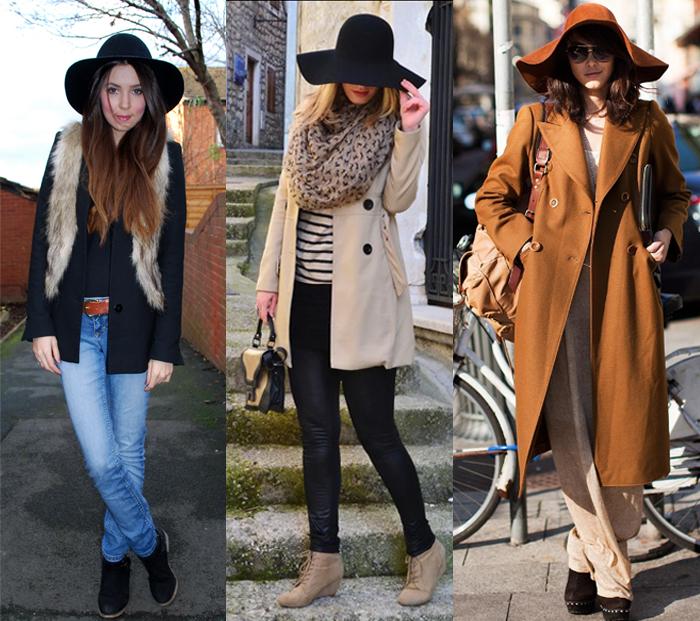 Como usar chapéu floppy com casacos Fashion blog MeninaIT