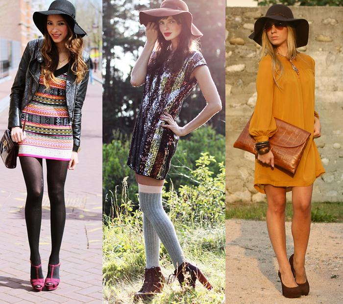 Como usar chapéu floppy com vestidos fashion blog MeninaIT