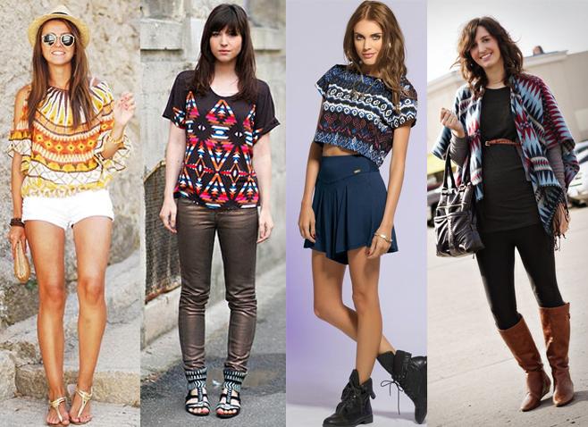 Como usar estampa étnica em vestidos e camisetas Blog de Moda feminina