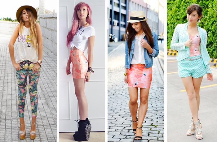 Como usar estampa de flamingos em calças vestidos e saias Fashion blog MeninaIT