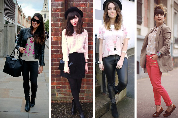 Como usar estampa de flamingos em looks street style Fashion Blog MeninaIT