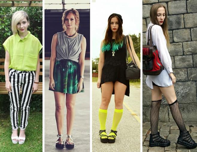 Como usar sandália flatform estilo grounge fashion blog MeninaIT