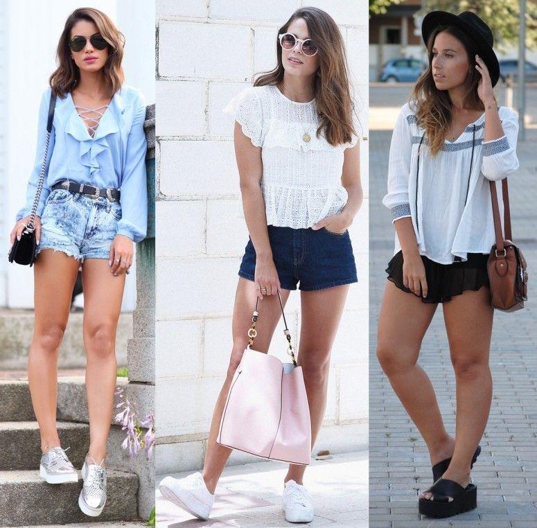 Flatform com shorts