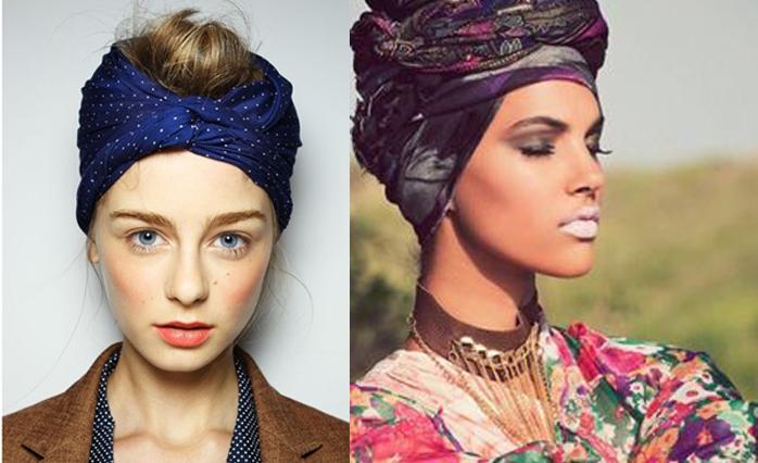 Os turbantes novamente na moda como usar