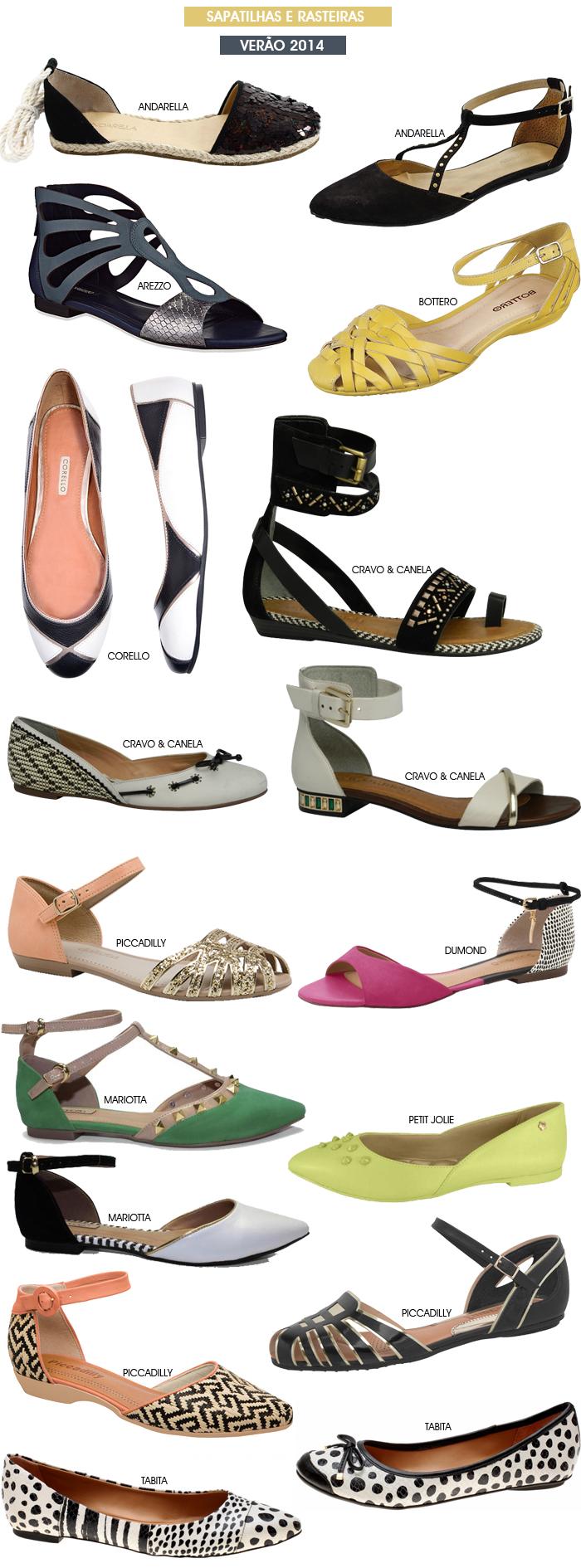 Sapatilhas e rasteirinhas verão 2014 Blog de Moda Feminina MeninaIT