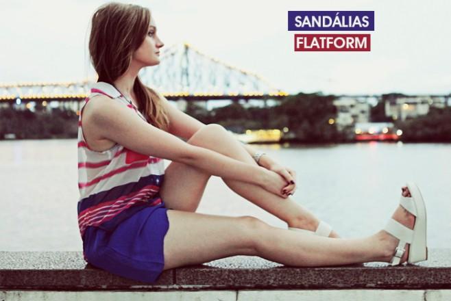 Tendência sandálias flatform como usar blog de moda feminina MeninaIT