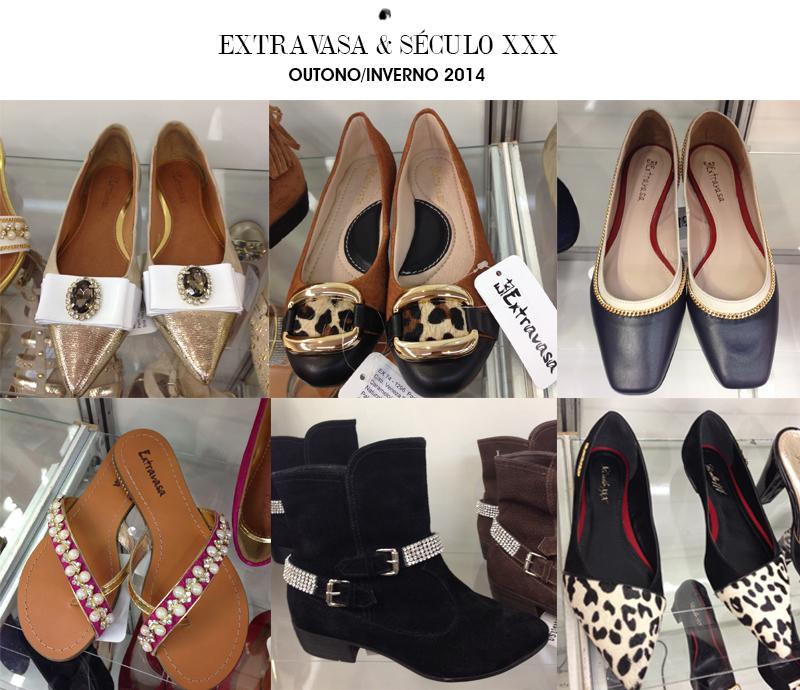 coleção de inverno 2014 Século XXX para calçados femininos de festas e balada e Extravasa para sapatos flats e rasteiras