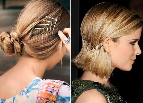 penteados com grampos