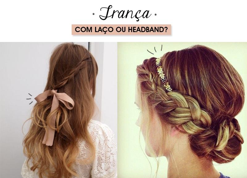 Penteados para o verão trança com laço de fita ou headband