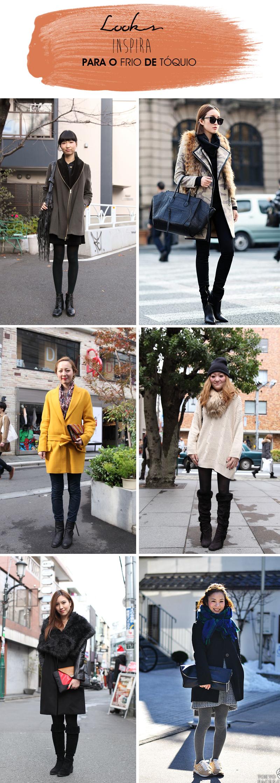 Street Style Japão looks de inverno