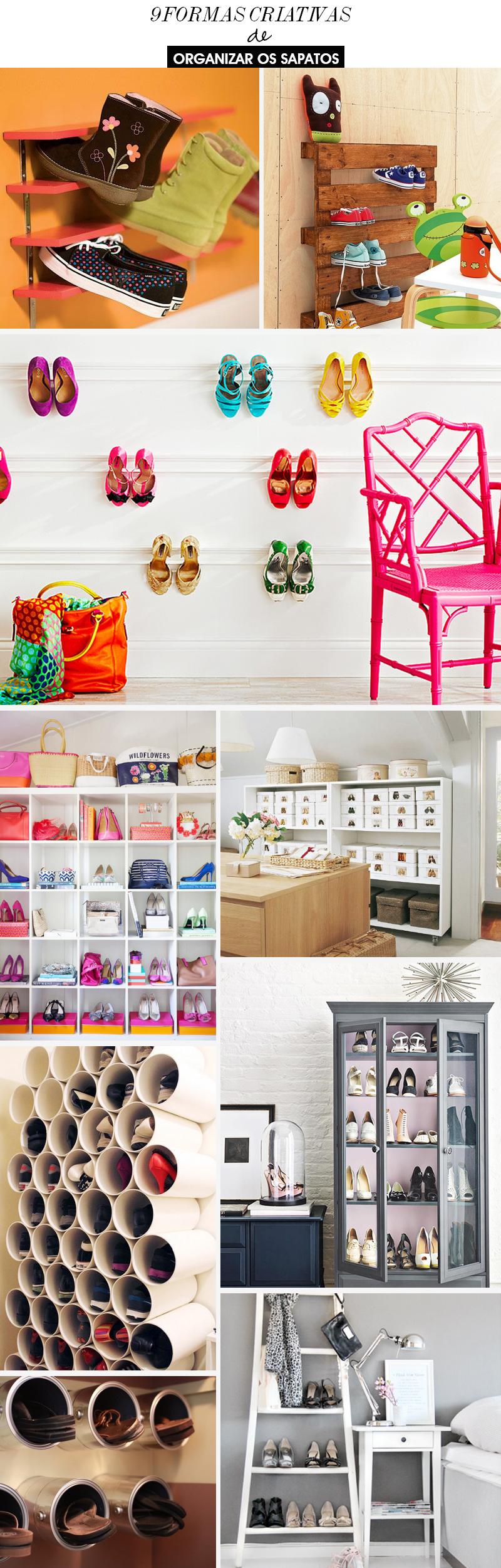 9 formas criativas para você organizar os sapatos