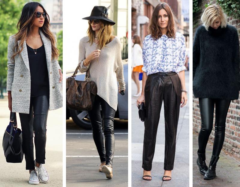 Como usar calça de couro how to wear leather pants