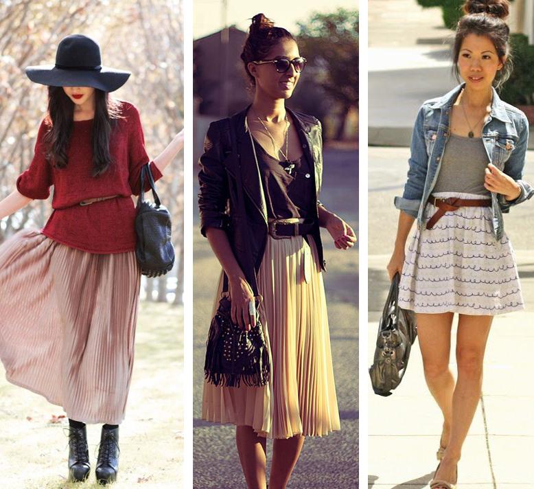 Como usar cinto com saia longa média e curta Dicas de moda e estilo por Deisi Remus
