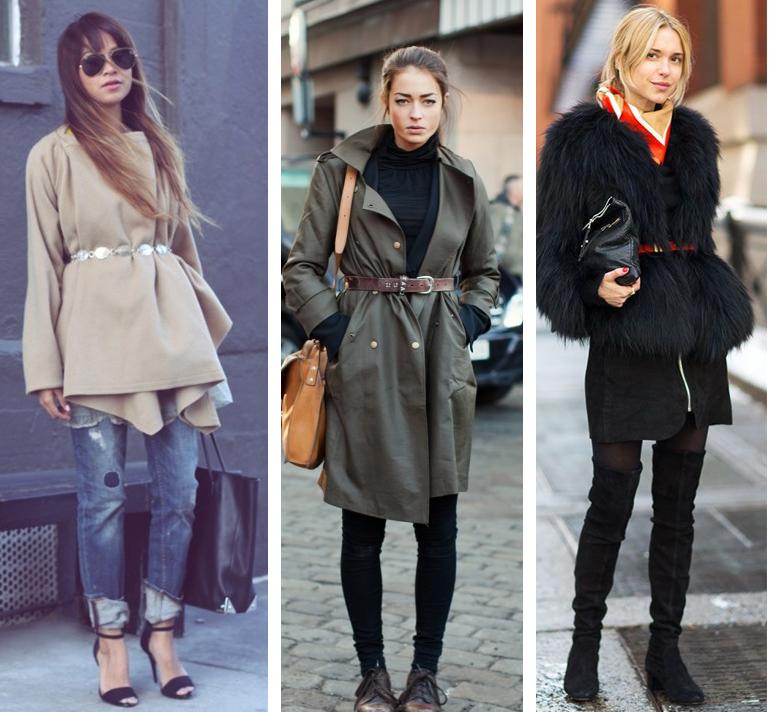 Como usar cinto por cima de casacos no inverno Dicas de moda e estilo por Deisi Remus
