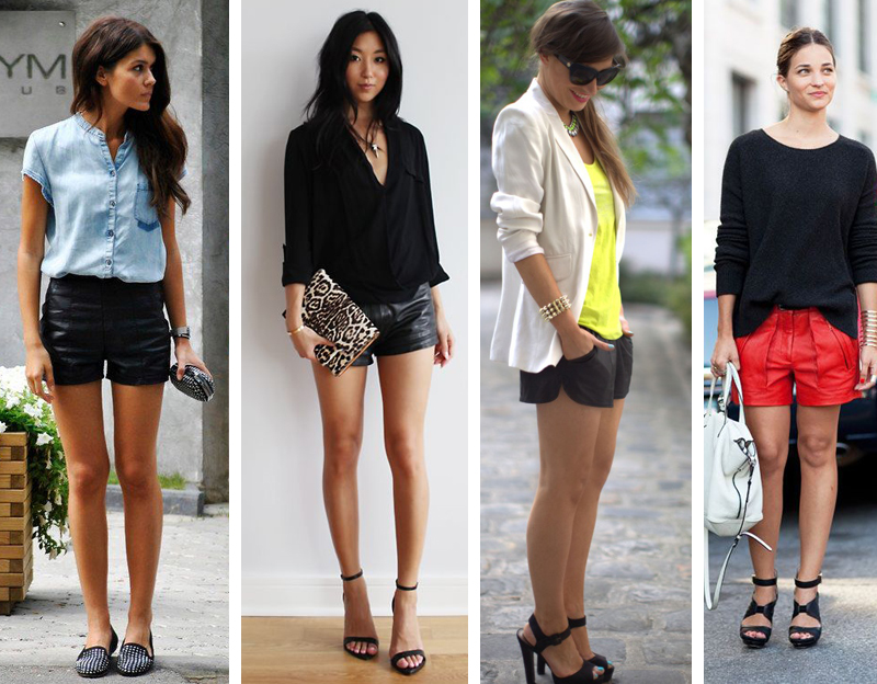 Como usar shorts de couro dicas de moda e estilo Deisi Remus