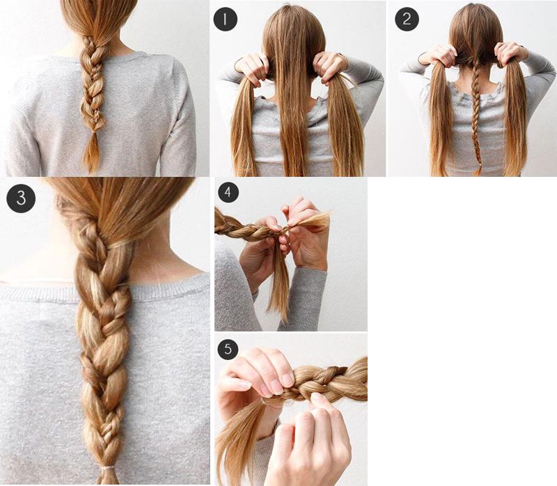 como fazer duas tranças em uma só penteados de cabelos