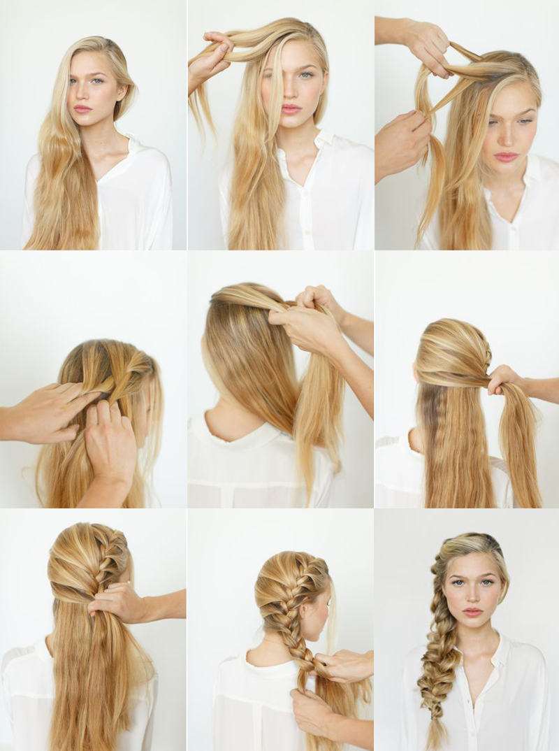 como fazer trança lateral penteados de cabelos
