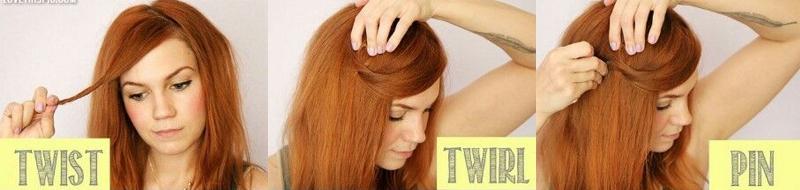 penteados de cabelos e franja