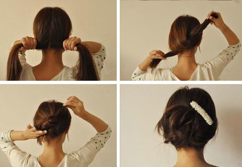 penteados de cabelos para quem esta com preguiça (1)