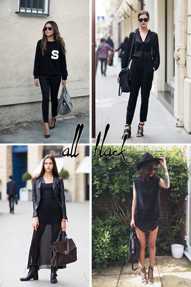 Looks all black para o inverno 2014 - Dicas de moda e estilo por Deisi Remus