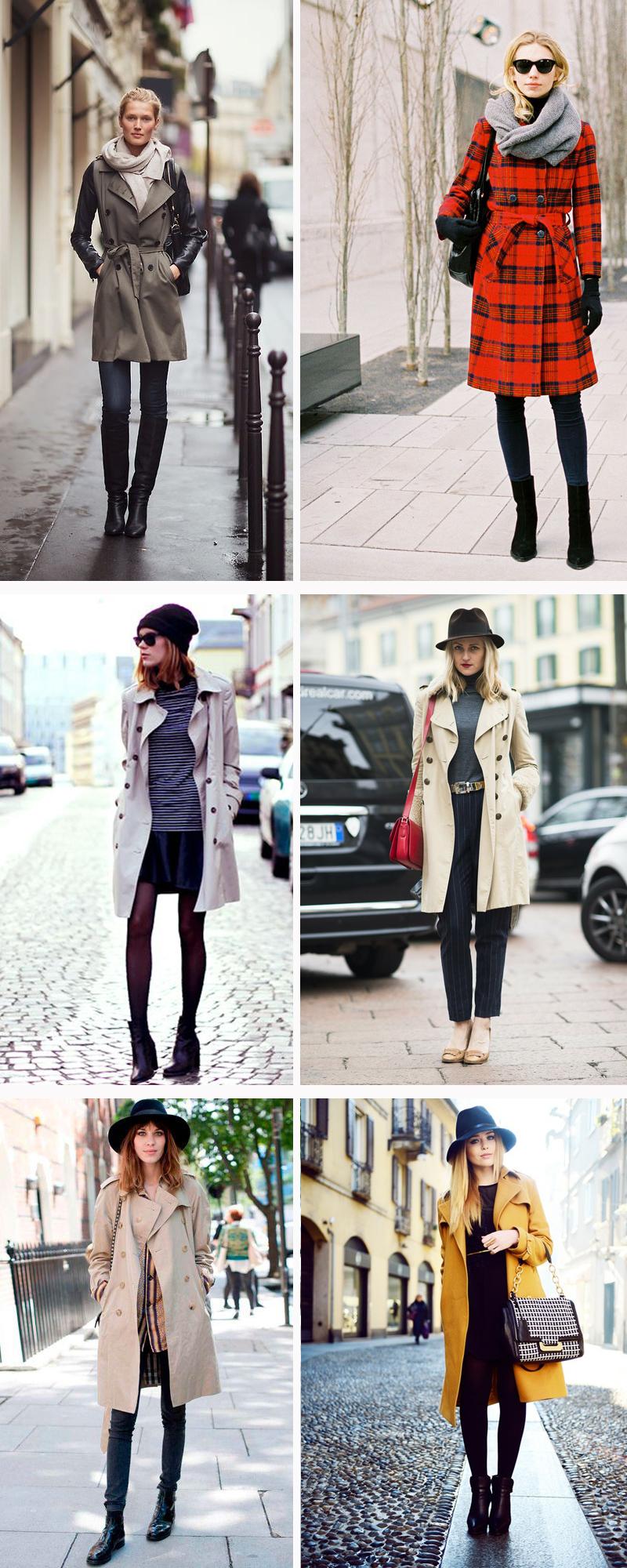 Looks de inverno com trench coat como usar