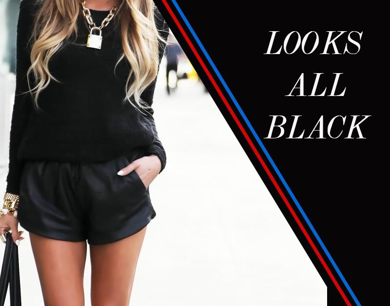 Looks total preto para nova temporada como usar - Dicas de moda e estilo por Deisi Remus