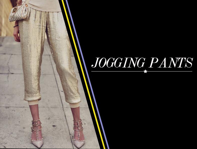 Tendência esportiva jogging pants como usar