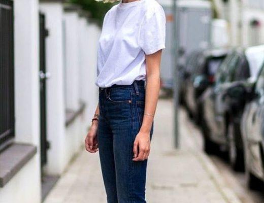 calça jeans camiseta branca