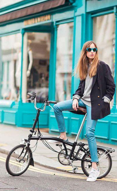 estilo para andar de bicicleta mulher