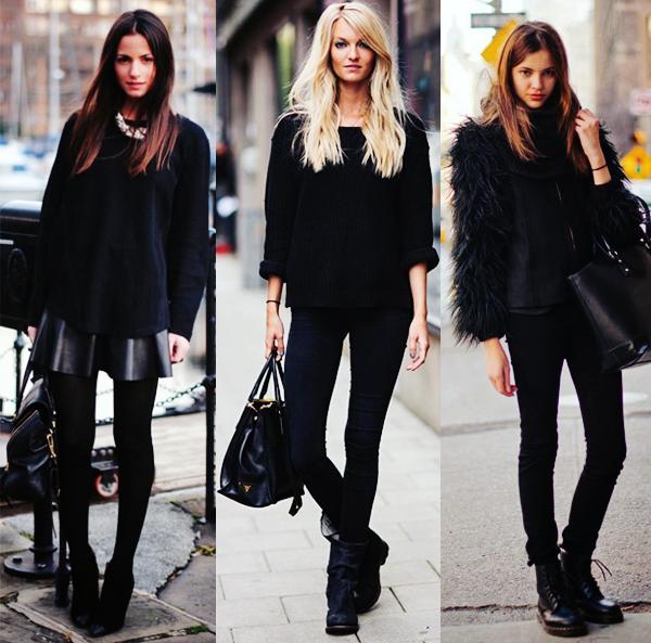look todo preto inverno