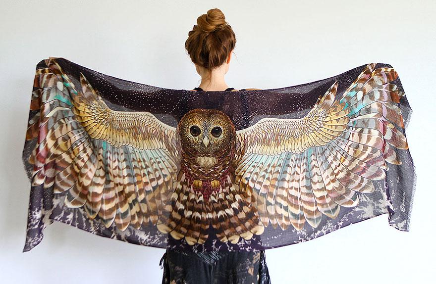bird-scarves-wings-feather-fashion-design-shovava-2